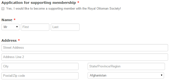 Membership Royal Ottoman Society